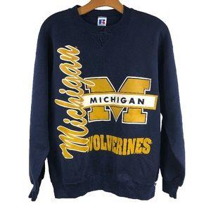 VTG Michigan Wolverines Crewneck Sweatshirt Sz XL